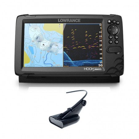 Lowrance Hook Reveal 9 HDI 50/200 CHIRP DownScan
