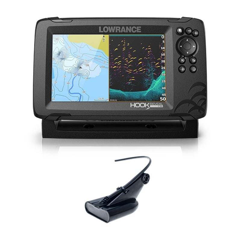 Lowrance Hook Reveal 7 HDI 50/200 CHIRP DownScan