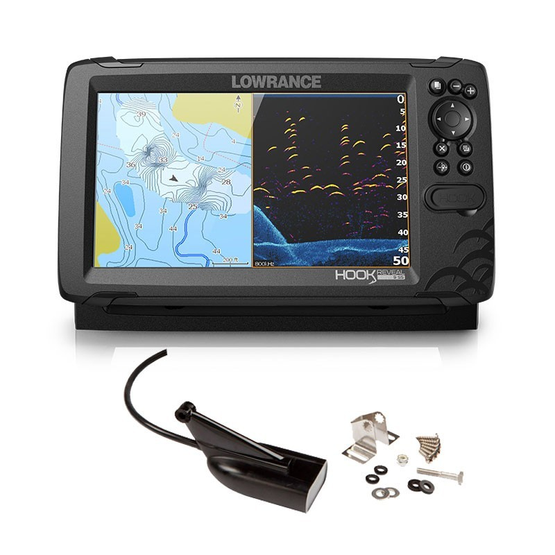 Lowrance Hook Reveal 9 HDI 83/200 CHIRP DownScan