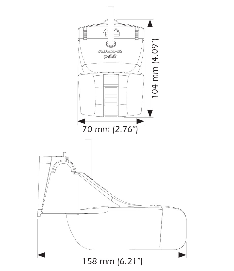 transductor airmar p66