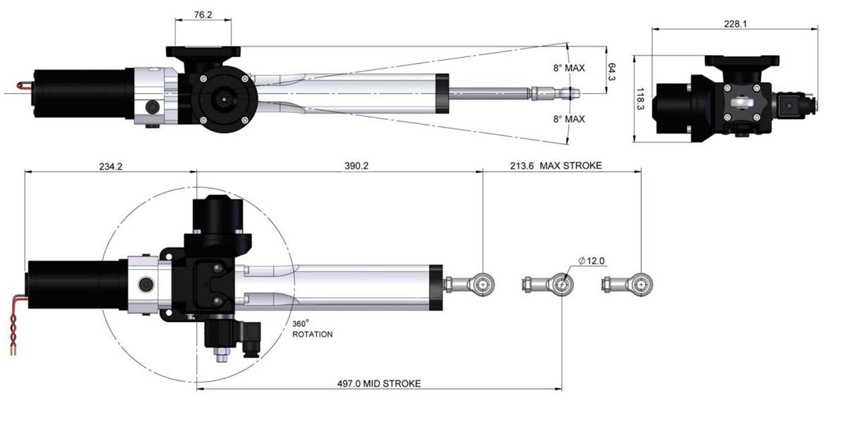 B&G unidad lineal hidráulica T0