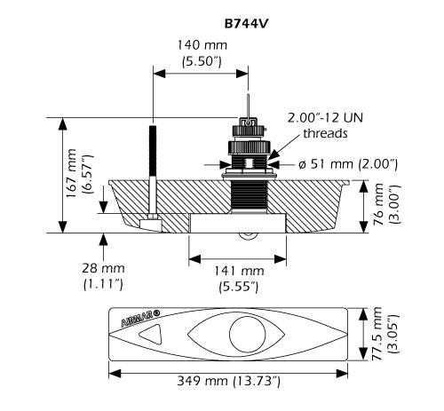 Transductor Airmar B744
