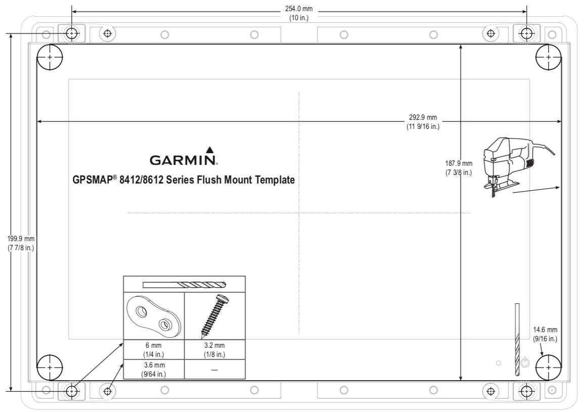 garmin gpsmap 8412 dimensiones