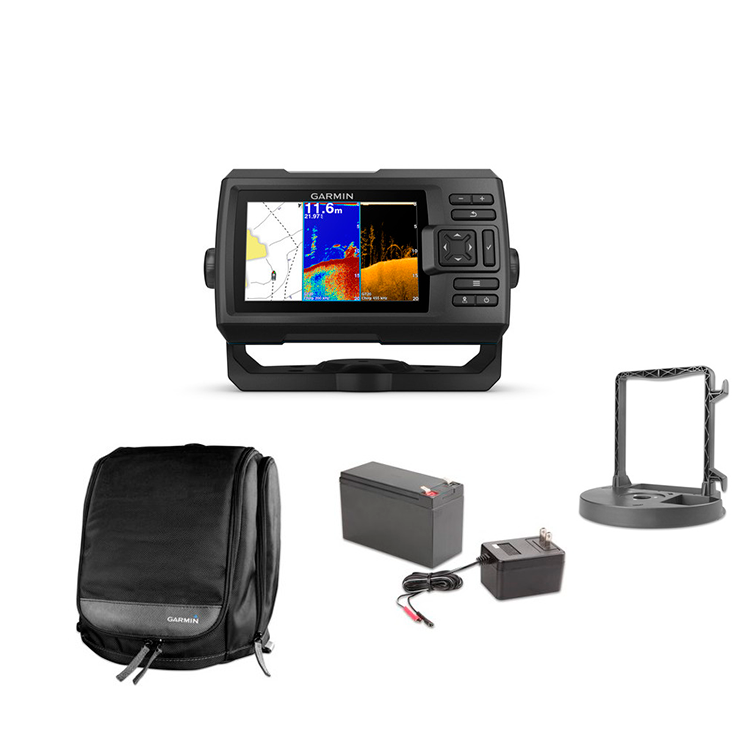 pack kit portátil garmin striker plus 5cv