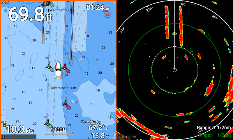 Raymarine element radar