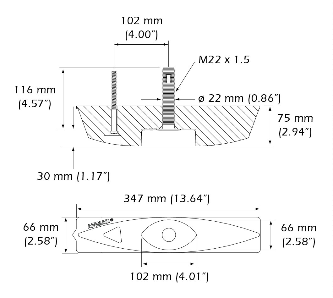 Transductor Airmar B45