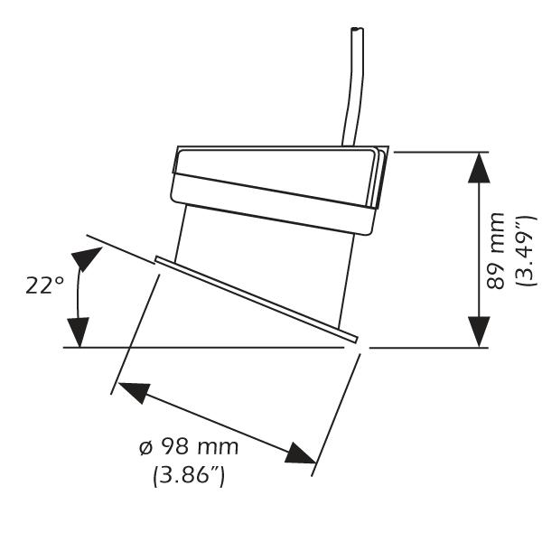 Transductor chirp airmar p95m