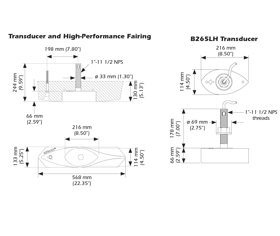 transductor airmar b265
